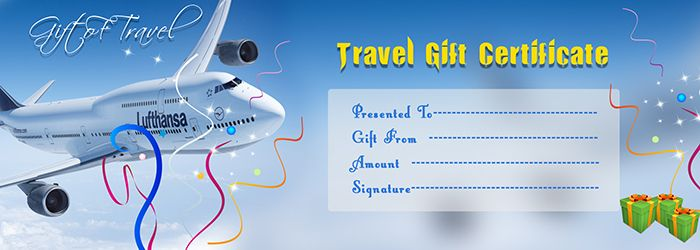 TRAVEL GIFT VOUCHER CERTIFICATE TEMPLATE