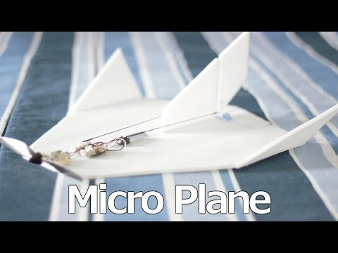 Scratch built micro rc plane with a deltang rx52m - YouTube