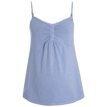 Blue Marl Maternity Camisole Pyjama Top, Pyjamas and Nightwear, Maternity