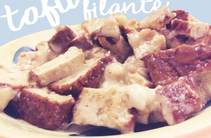 [RICETTA] Tofu filante  #ricettevegetariane #ricettevegane #nachos #vegan #veganfood #veganfoodshare #veganitalia #veganitaly #patatabollente