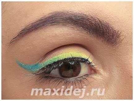 макияж глаз изумрудный градиент