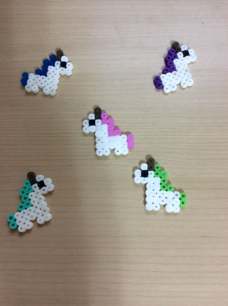 Unicorns!! Made by perler beads. Easy!!