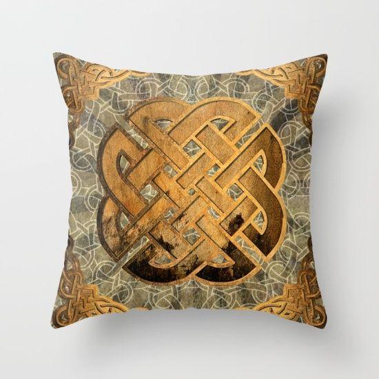 Celtic knots 1 Celtic knots on a rusten grunge background  #art #design #interior #homedecor #3dart #throwpillow #cushion #design #exclusive #viking #celtic #norway #iceland  #pillow