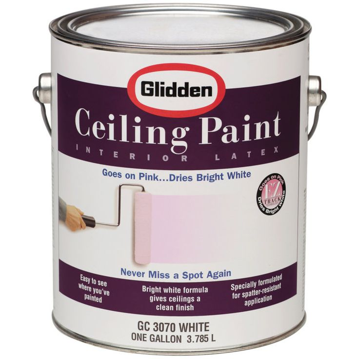 Ceilings are usually painted white. Repainting a ceiling usually involves putting white paint on a background of the previous coat of white paint. Glidden has made this task more mistake-proof by inventing pink ceiling paint that dries white. The paint provides contrast when needed, but dries to the intended color.