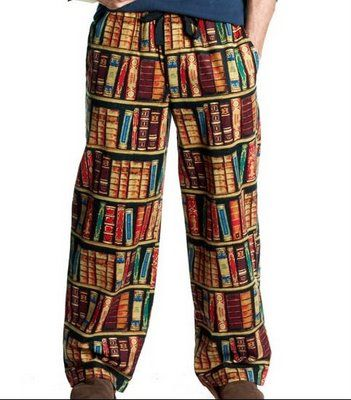 Book pajamas - I think I'd sleep a lot better in them. ;-)