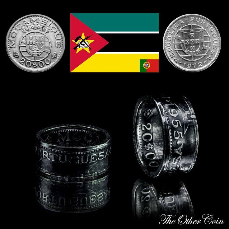 Coin Ring created from Mozambique (Portuguese Colony) 20 Escudo Münzring aus Mosambik (Portugiesische Kolonie) 20 Escudo Монетное кольцо, созданное из Мозамбика (португальская колония) 20 Escudo ----Info---- Year - Jahr - Год:  1952 - 1960 Material - Материал: 0.720 Silver-Silber-Серебряный Weight - Gewicht - Вес: ca. 9g Ring Size - Ring Größe - Размер кольца: 19.4mm - US 9.5 to 21.0mm - US 11.4 Height - Höhe - высота: ca. 10mm