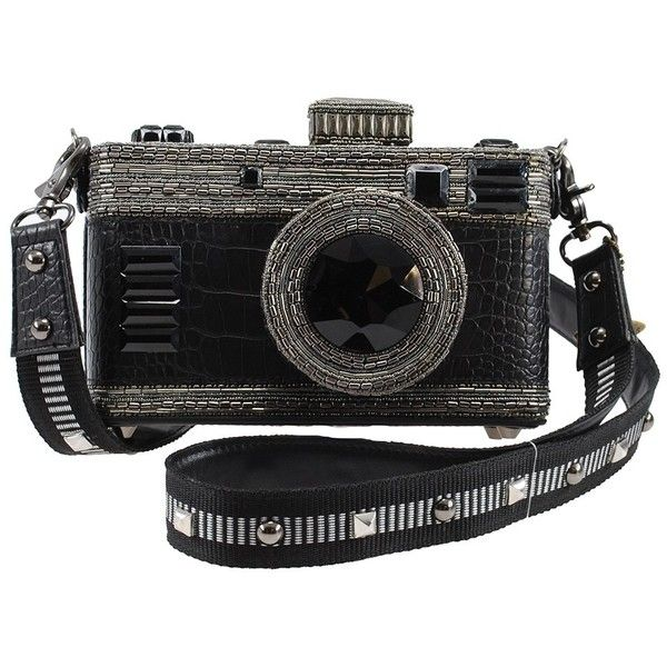 Freeze Frame Embellished Camera Cross-body Handbag ($298) ❤ liked on Polyvore featuring bags, handbags, shoulder bags, embellished, purses, accessories, bead, studded purse, crossbody shoulder bag and purse shoulder bag