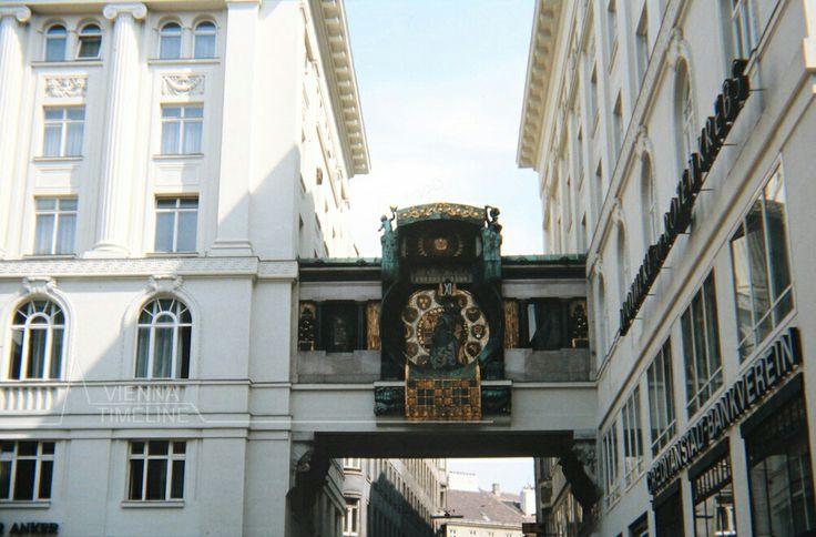 Anker-Uhr am Hohen Markt um 1970