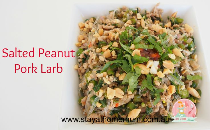 Salted Peanut Pork Larb   Stay at Home Mum