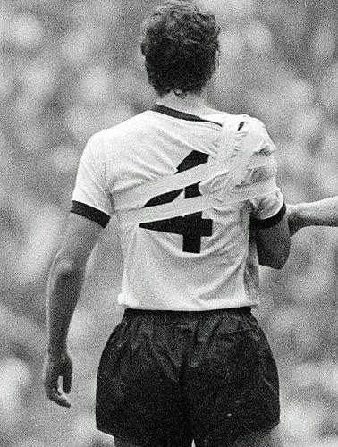"""Franz Beckenbauer, Game of the Century"""" 17 June 1970"""