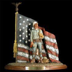 Eagles Dare Sculpture / Michael Garman Fine Sculptures For Power Lineman $420