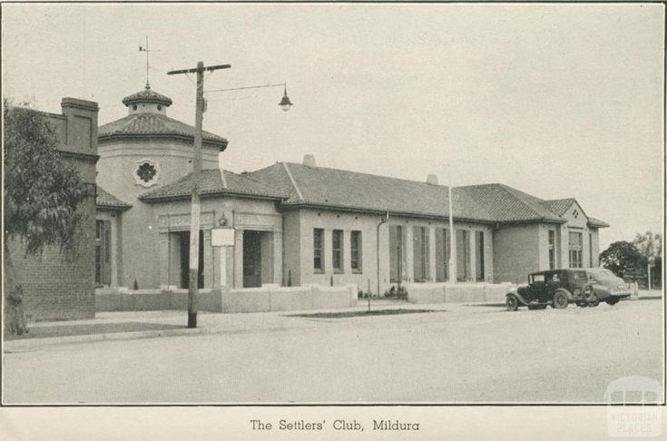 The Settlers' Club, Mildura, 1948