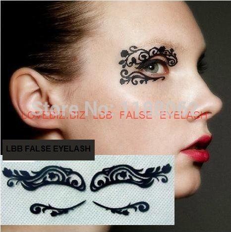 Mardi gras makeup stickers mugeek vidalondon for Eye temporary tattoo makeup