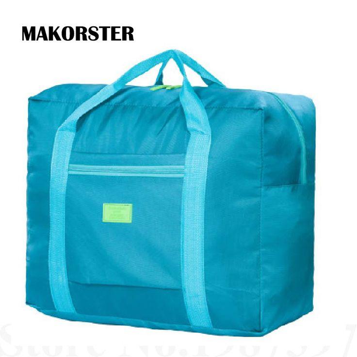 Mujeres de La Manera ocasional Grandes Bolsas de Viaje de Nylon de la Cremallera bolsas de lona bolsa de Viaje Portátil equipaje maleta de viaje de fin de Semana XH233