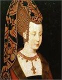 Jacquetta of Luxembourg (1415/1416 – 30 May 1472), married firstly in 1433, John, Duke of Bedford, and secondly, in secret, c.1436, Richard Woodville, 1st Earl Rivers, by whom she had sixteen children, including Elizabeth Woodville, Queen consort of King Edward IV of England. Every English monarch after 1509 descended from her.