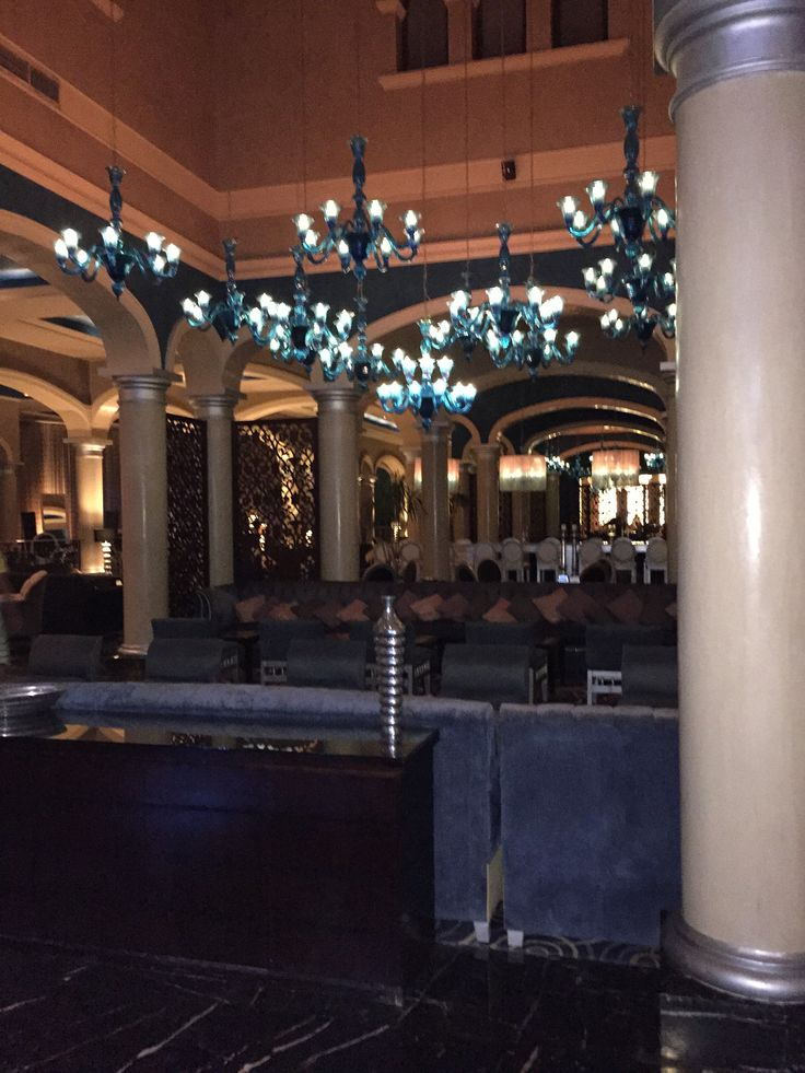 The bar at the Jaz Aquamarine in Hurghada. An oasis of marble and blue.