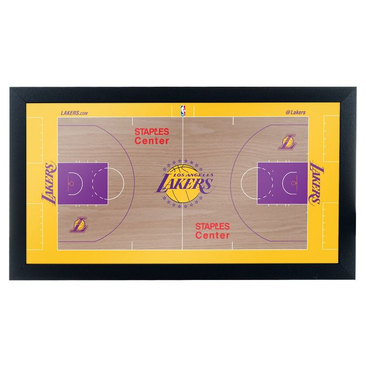 NBA Los Angeles Lakers Team Court Framed Plaque