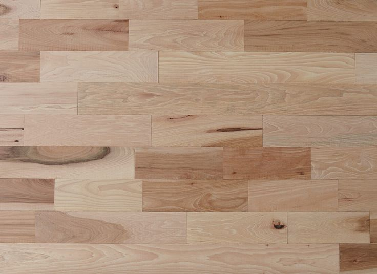 this unfinished hickory hardwood flooring shows natural variations