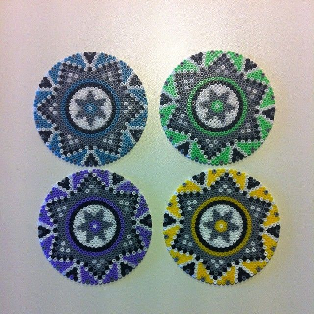 Mandalas hama perler beads by pernilleqvist84... you could totally use these as coasters.