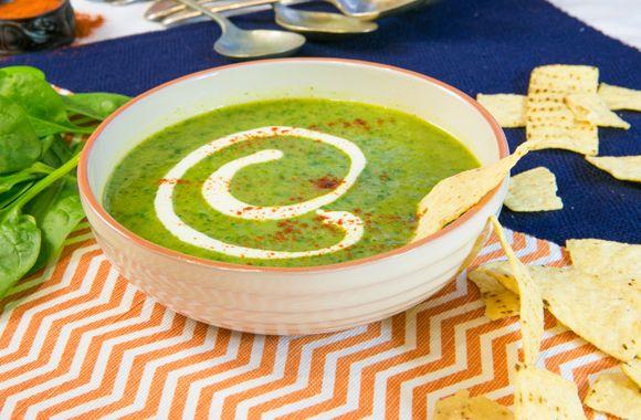 Cremet koriander og squash suppe
