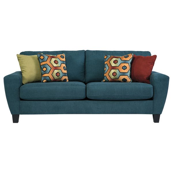 Leather Sectional Sofa Signature Design by Ashley Sagen Teal Sofa