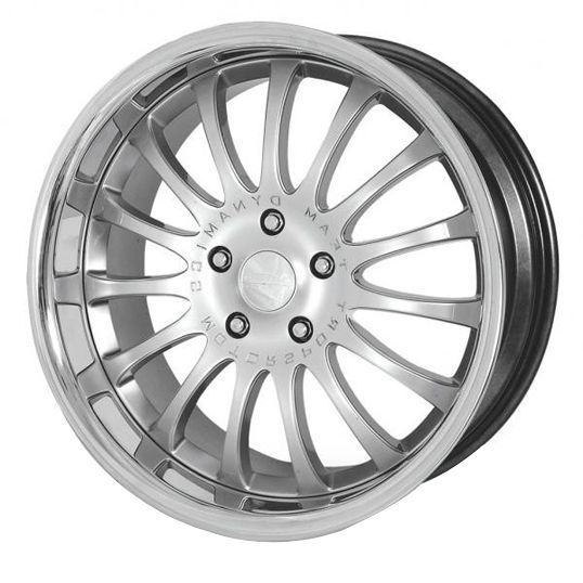TEAM DYNAMICS EQUINOX II HYPER SILVER alloy wheels with stunning look for 5 studd wheels in HYPER SILVER finish with 19 inch rim size