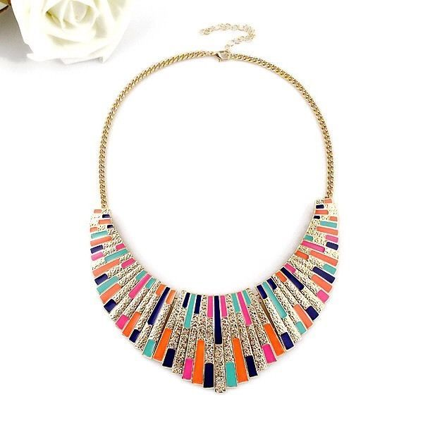 Colourful Statement Collar Necklace, Women s Fashion Accessories