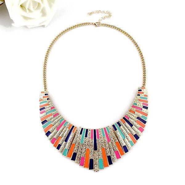 Colourful Statement Collar Necklace, Women's Fashion Accessories