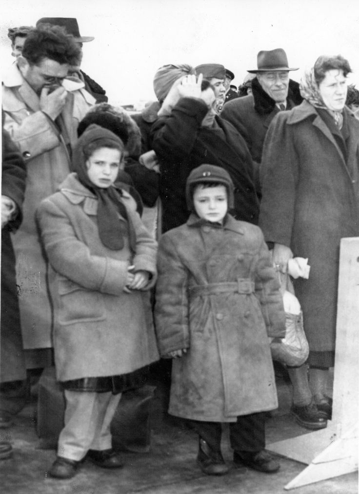 Hungarian refugee children at Fort Dix, in 1956. They would move on from here to Camp Kilmer, near New Brunswick, where thousands were processed before moving on to their new homes in the US.