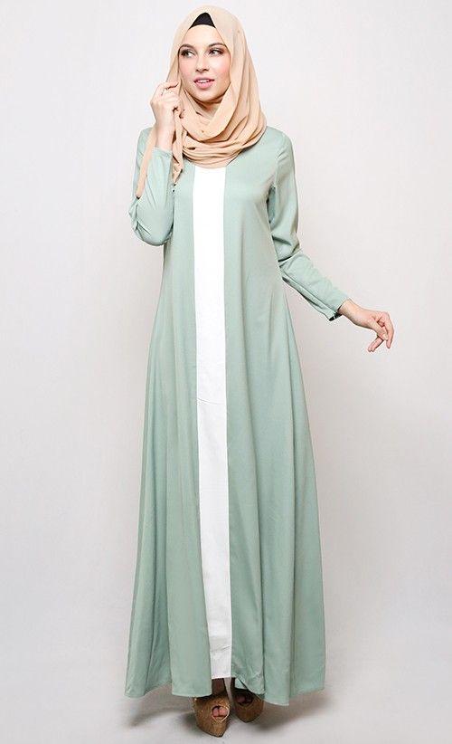 Cut and Sew Jubah in Mint Green | FashionValet                                                                                                                                                                                 More
