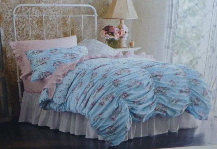 Details about Simply Shabby Chic. Cabbage Rose Duvet Cover ...