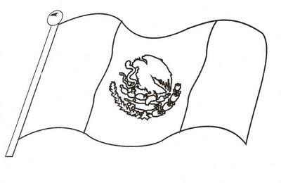 Bandera para colorear ideal para los m s peques mexico - Compritas para los peques ...