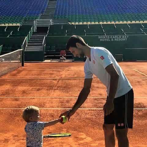 Papa and Baby Djokovic. Sp cute! 04/16