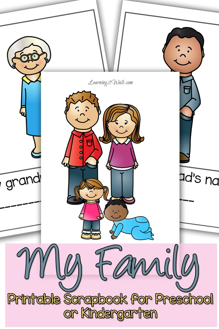 Help your preschooler of kindergartner explore the my family preschool with this cut and paste scrapbook.