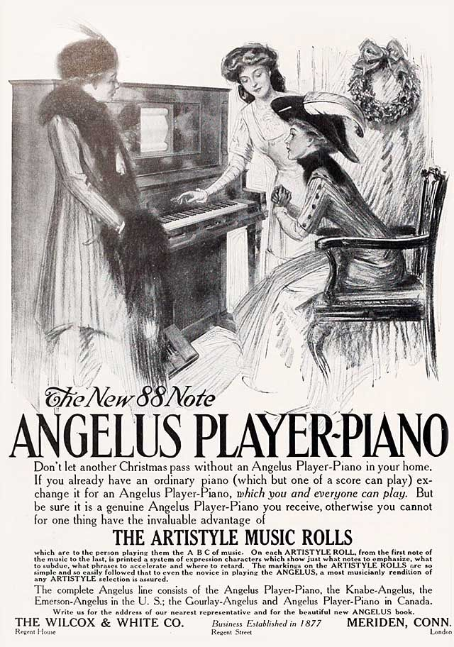 vintage piano ads