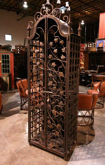 The Napa Wrought Iron Wine Cabinet is one of our most unique pieces in our BarCatalog. This completely custom wine rack is made from hand-forged wrought iron, and features intricate leaf and grape…
