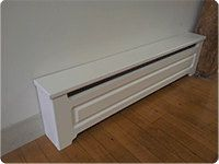 Custom Made To Order Baseboard Heater Covers. . Our covers are an affordable option to turn your ugly heaters into attractive millwork!