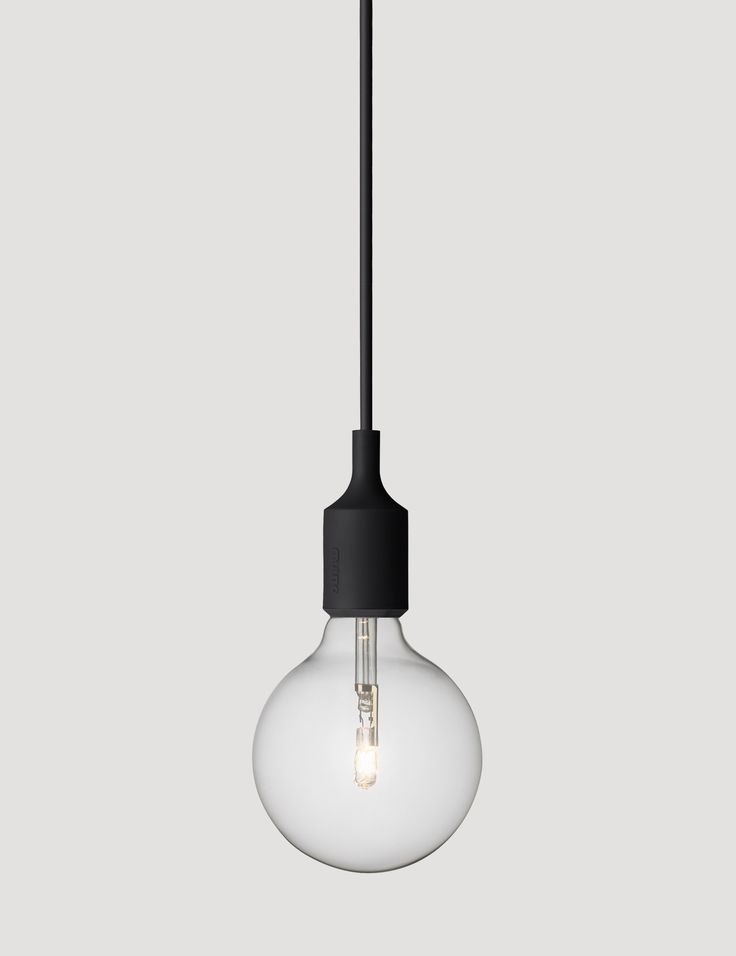 E27 has become a Muuto icon: A striking naked bulb that plays with the subtle aesthetics and simplicity of industrial design. Designed by Mattias Ståhlbom Comes in 13 different colors here in Black #muuto #muutodesign