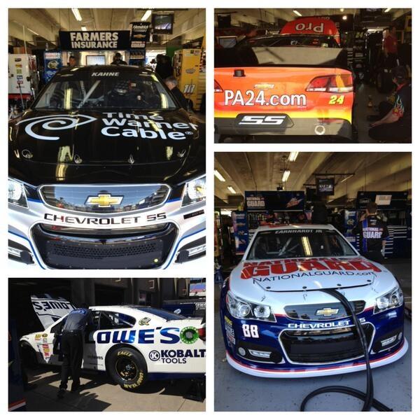 Hendrick cars in garage. Jimmy johnson, Suv car, Nascar