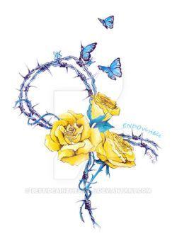 Ribbon   Endometriosis awareness by BestIdeaInTheApple