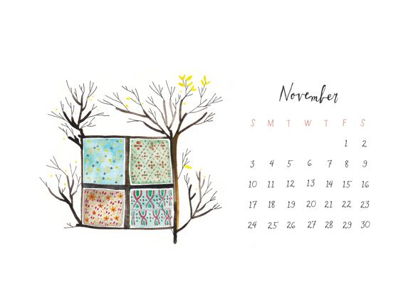 Happy first day of November! Visit our flickr page to download our November calendar, or click on the image below to be taken directly to the large version. Enjoy!