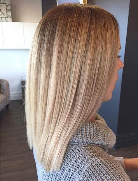 Straight Blonde Lob
