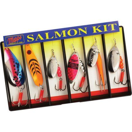 Mepps Salmon Kit, Plain Lure Assortment, Multicolor