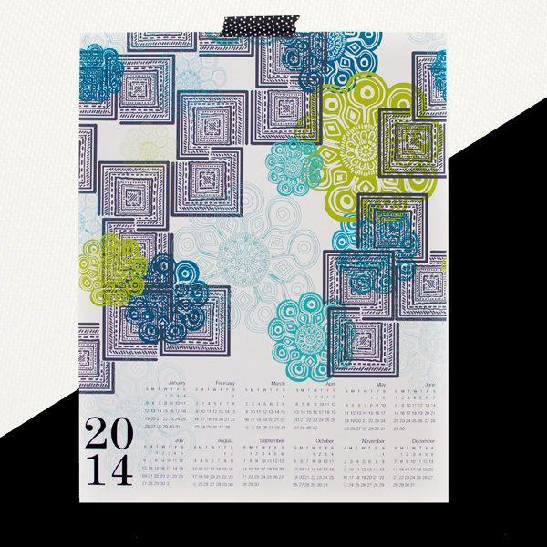 MODERN MOROCCO 2014 canvas wall calendar by khristian a howell