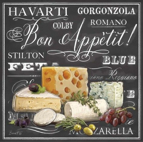 Gourmet Cheese Collection Prints by Chad Barrett at AllPosters.com