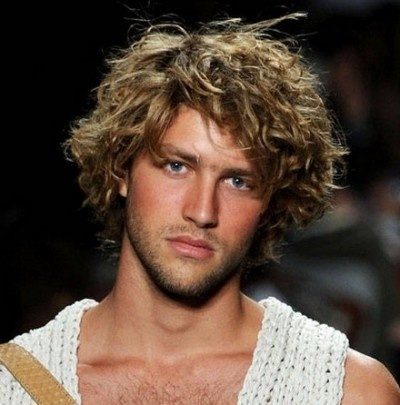 Sexy messy blond style for men