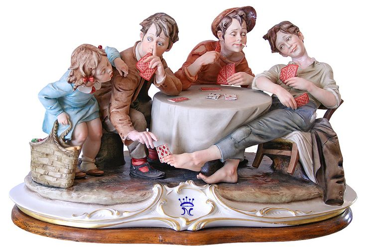 Porcelain figurines of the famous Capodimonte porcelain factory