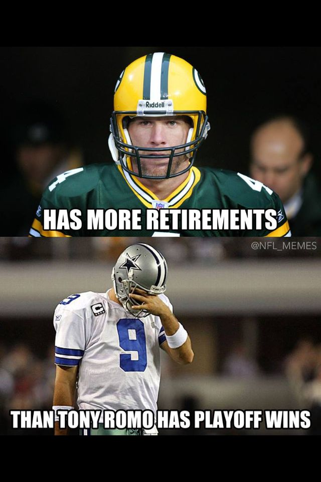 Has more retirements than Romo has playoff wins