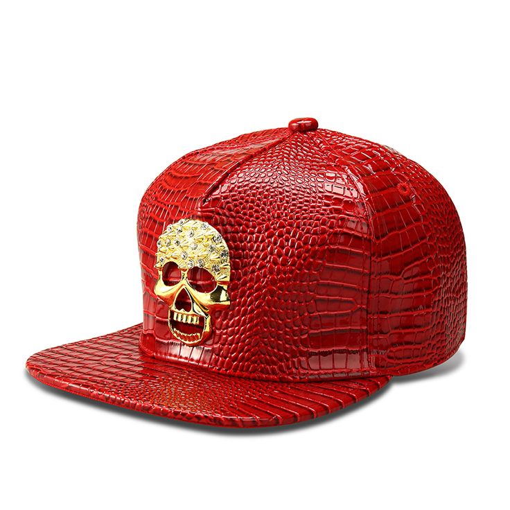 NYUK Bling Crystal Gold Skull Fashion Cap Baseball Caps Hip Hop Dance Hats Faux Leather Gorras Snapback Hat Adjustable Men Women #Affiliate
