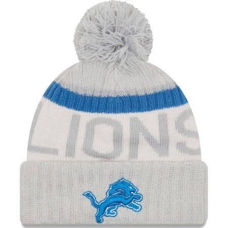 5d0263ee702 NFL Detroit Lions Gray 2017 Sideline Reverse Team Sport Knit Hat ...